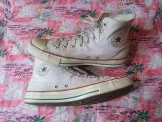 size.45 converse ct hi white all star