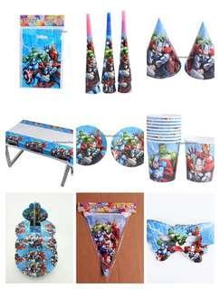 Complete Set - Avengers party supplies