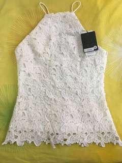 Doublewoot White Lace Top (Size : S, BNWT)