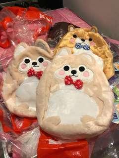 日本 景品 豆柴 柴犬 可愛小狗 袋 書包 背囊
