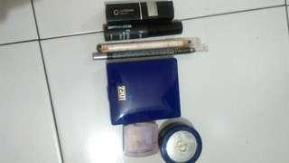 BUNDLING !!! Eyeshadow Inez , Eyeliner Oriflame , Silky girl Silver, Pensil alis Purbasari  dll