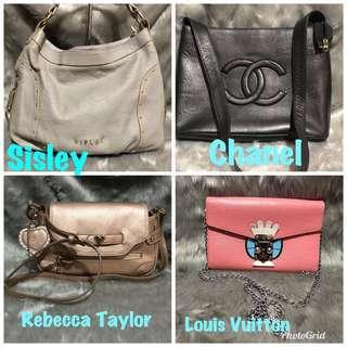 Everything 1,500 each: Louis Vuitton, Sisley, Chanel, Rebecca Taylor