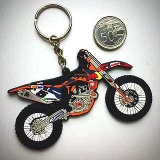 BN KTM 450 EXC 3D Rubber Keychain