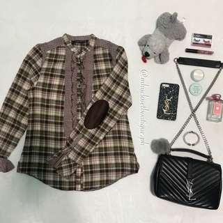 👗ZARA (flannel vintage polo)👗