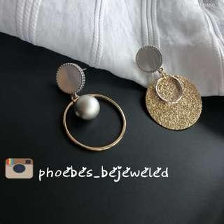 Expanda hypoallergenic dangling fashion earrings with pearl