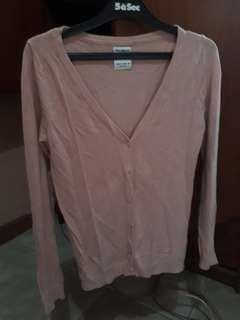 Cardigan warna salmon