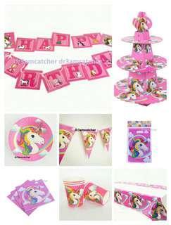 Complete set - Unicorn party supplies