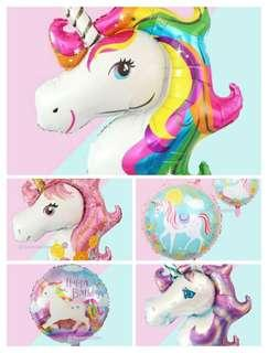 Many designs! Unicorn balloons