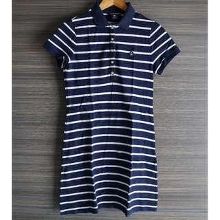 Navy Striped Polo Dress