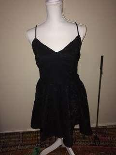Valley girl black lace dress