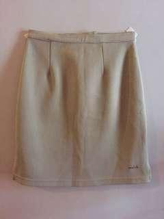 Pencil-cut Beige Skirt