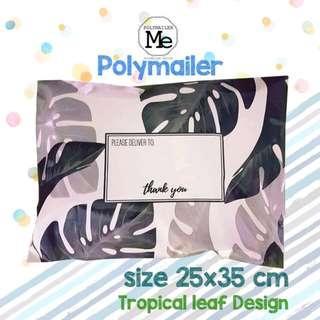 Polymailer Tropical leaf design (pale pink colour)