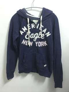 American Eagle-藍色連帽外套