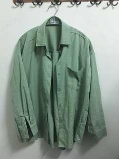 CHILL品牌-綠色襯衫