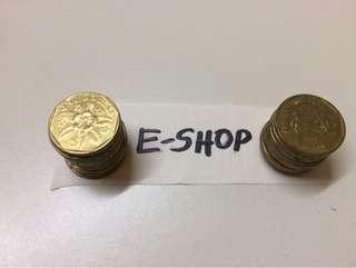 Singapore Old coins $1 dollars (19pcs