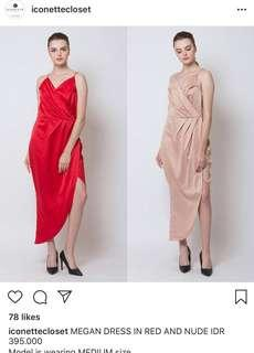 Long dress megan iconette closet NUDE