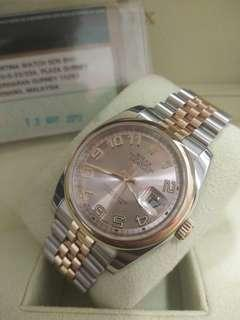 Rolex Datejust 116201 Rose Gold 36mm Automatic
