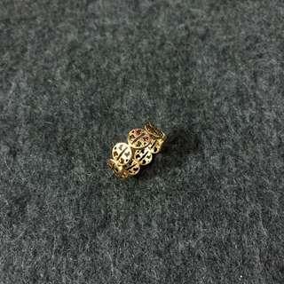Tory Burch Ring US size 7 金色戒子7號 內直徑徑1.8cm