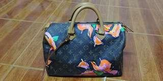 Limited edition Louis vuitton stephen sprouse roses speedy 30