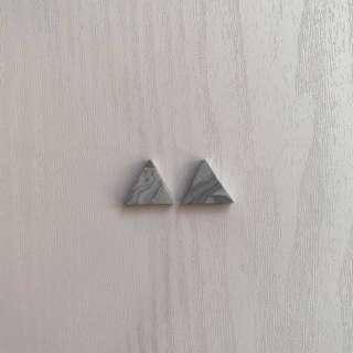Handmade grey marble earrings