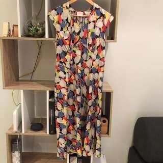 Leona Edmiston print dress size 12