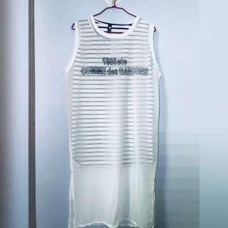 🚚 兩件式雪紡條紋洋裝