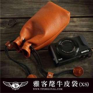 🚚 犛牛皮 相機袋 相機包鏡頭保護 束口袋 Canon G7X Sony rx100m5