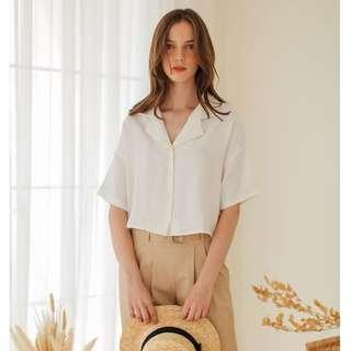 [BRAND NEW] OUDRE - Lyra Top in White