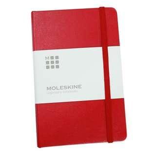 免郵費 超值 (多買有折) Moleskine 經典硬皮橫間內頁筆記本 (紅色) 新品 密封包裝 原價$135