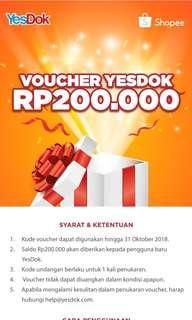 Voucher YESDOK.com 200.000