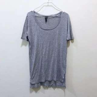 🚚 Cotton On Grey Oversized Cotton Basic Top Tee Shirt