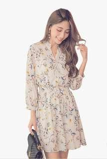 🚚 Floral Baby doll 3/4 Sleeve Flare Dress