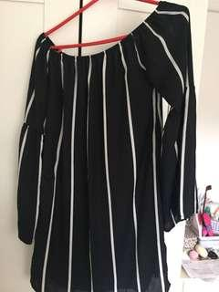Missguided Off Shoulder Stripe Dress