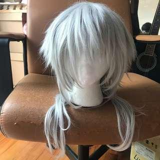 Tsurumaru wig white grey cosplay touken ranbu