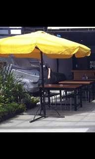 Tenda cafe atau kebun ukuran besar dr besi