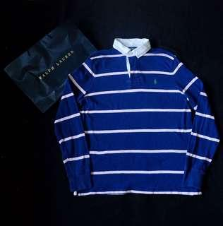 Authentic Ralph Lauren Striped Rugby Polo Shirt