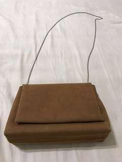 駝色小包包 側背包