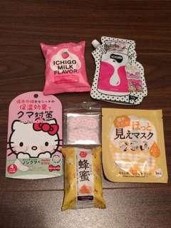 Japanese soap, warm face mask, milk face wash