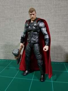 Marvel Legends Infinity War Thor with Custom Cape (Basic Cape Ver- No Wire)