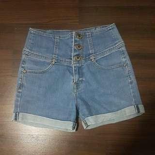 Highwaist hws light denim shorts basic