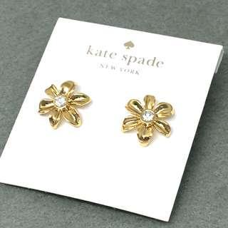 Kate Spade New York Sample Flower Earrings 金色閃石花花耳環