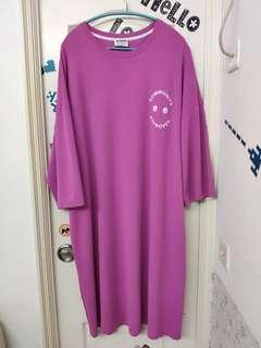 全新韓國人氣紫色寬鬆裙