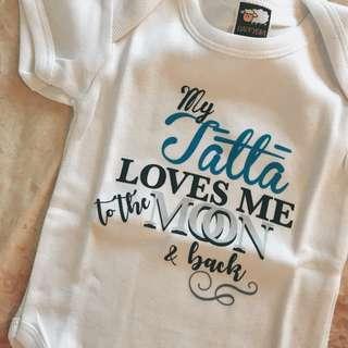 baby romper personalised custom