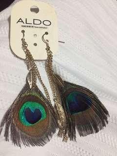Aldo peacock design earrings