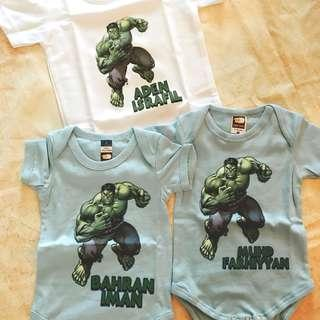 marvel baby romper with name