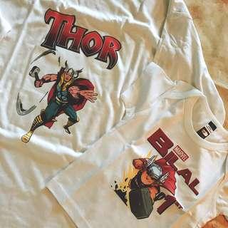 Marvel t-shirt baby adult