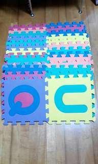 字母拼圖學習大軟墊