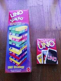 Uno Stacko and Cards