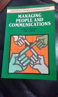 Managing people and communications- essential guides to management
