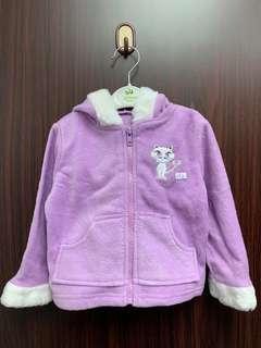 全新紫色抓絨女童外套(12m, 18m, 24m) 送平郵